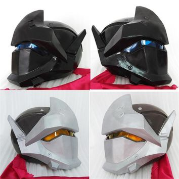 Takerlama Game OW Over Watch Genji Mask Cosplay Costumes Knight Helmet Handmade