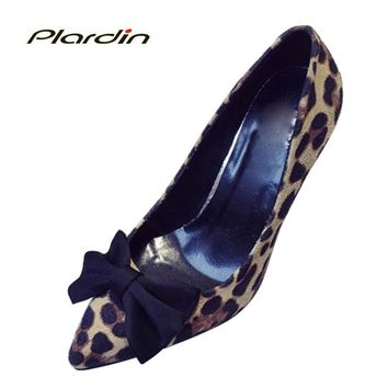 plardin 2017 Woman Fashion Pumps Fine With High With Singles Shoes Shallow Butterfly-k