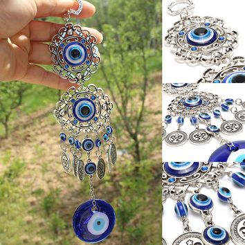 Wall Pendants Protection Home Decoration Blue Need Anywhere Rhinestone Gift Amulet Your Eye Hanging Turkey Blessing Evil