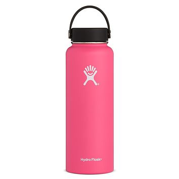 40 oz Wide Mouth Hydro Flask - Watermelon