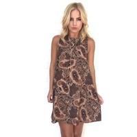 Beat Of Your Drum Paisley Shift Dress