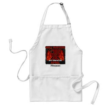 Grill Masters Are Born In April Personalized Adult Apron