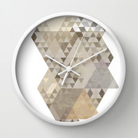 muted triangles Wall Clock by dani