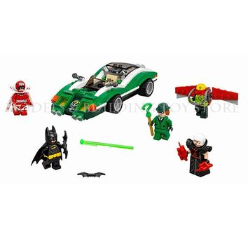 Batman Dark Knight gift Christmas Mailackers Lepin 07059 The Riddler Riddle Racer 282Pcs Legoing Batman 70903 Bricks Super Heroes Man Movie Building Block AT_71_6