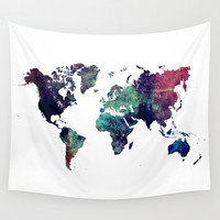 Map of the World After Ice Age Wall Tapestry by Jbjart   Society6