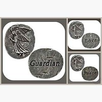 """""""Guardian Angel"""" Pocket Worry Wish Stone Collection"""