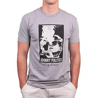 Johnny Politics Short Sleeve Vintage Tee in Heathered Grey by Rowdy Gentleman - FINAL SALE