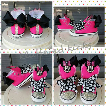 mickey mouse bling converse