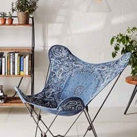 4040 Locust Riggins Butterfly Chair Cover- Blue One