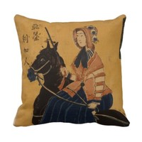 American Woman Riding Sidesaddle Japanese Vintage