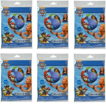 "Party Favors Licensed Paw Patrol Boys/Girls Inflatable Beach Ball 20""-6 Pack"