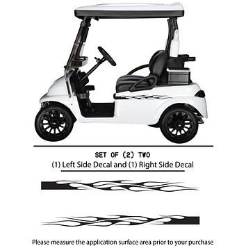 Golf Cart Vinyl Graphic Decals, Set of (2) TWO - STYLE F102