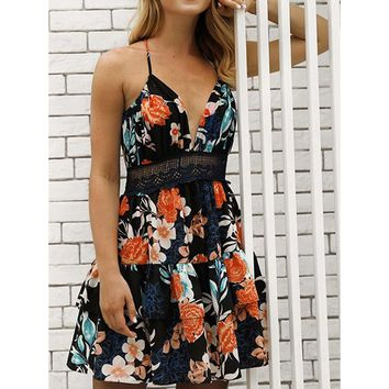 Escape Floral Tiered Skirt