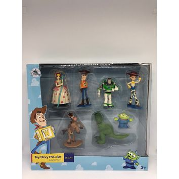 Disney Parks Toy Story 4 PVC Playset Cake Topper Figurine New with Box