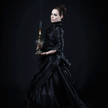 Gothic Mina Victorian Bustle Gown Wedding Custom Gown