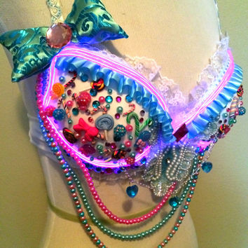 Light Up Candy Rave Bra