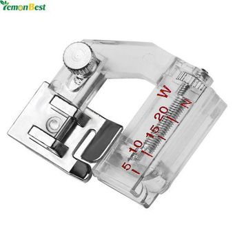 MDIGYN5 Adjustable Bias Binder Presser Foot Feet Binding Feet Sewing Machine Attachment Accessory For Low Shank Singer Janome Brother