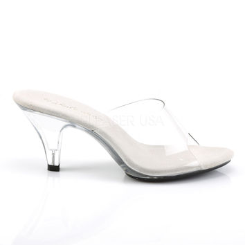 Fabulicious Clear Belle Slip-On Heels