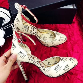 Gucci Lady's printed High Heel Sandals