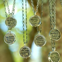 Vintage Dictionary Words Necklace  pick your own by artisticicing