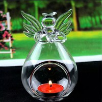 Clear Angel Wishing Glass Hanging Vase Terrarium Hydroponic Plant DIY Vase for Wedding Decoration Home Decoration Accessories
