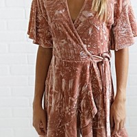 Good Vibes Velvet Blush Wrap Mini FINAL SALE!