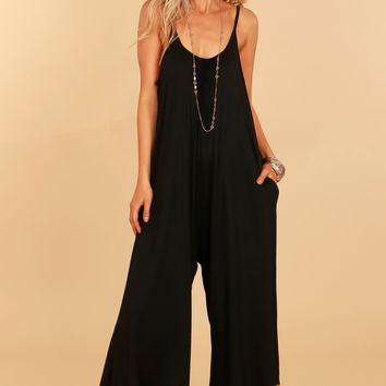 Tank Knit Jumpsuit Black