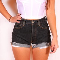 Levi's denim high waist shorts