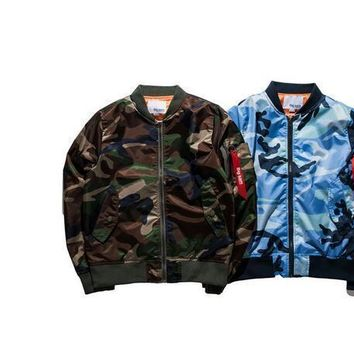 2017 Fashion thin jacket Mens Hiphop Street Swag Hoodies Bomber Jacket Ma1 Camouflage Brand Style Clothing Quality Military Coat
