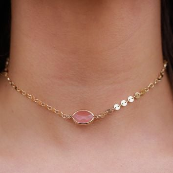 Oh So Good Choker - Marsala