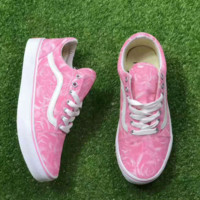 VANS OLD skool  Fashion Women Casual Shoes Low tops pink print H-A50-XYZ