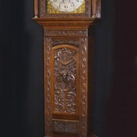 Canonbury - Victorian Oak Grandfather Clock Long Case 1880