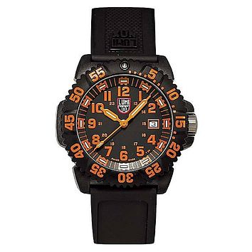 Luminox EVO Navy SEAL Colormark - Orange Indicators - Double Pin Buckle Strap
