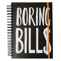Boring bills organizer