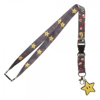 Super Mario Brothers Star Lanyard
