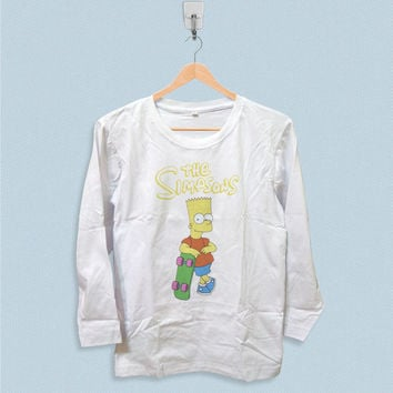 Long Sleeve T-shirt - The Simpsons Bart Simpsons