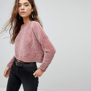 Only Chenille Crop Sweater at asos.com