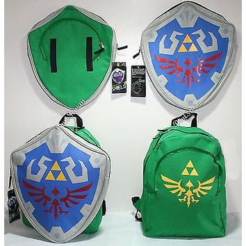 Licensed cool The Legend Of Zelda Shield Backpack REMOVABLE Hylian School Book Bag NINTENDO