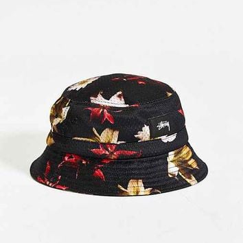 Stussy X UO Floral Mesh Bucket Hat- Black from Urban Outfitters f301cc26218