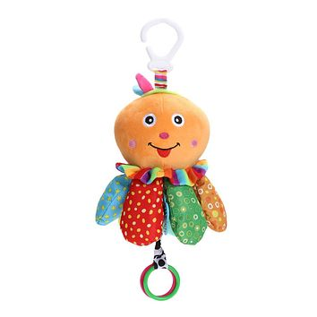 Baby Toys Plush Octopus Infant Kids Educational Toys Dolls Baby Grab Bed Hanging Musical Toys For Children Newborns