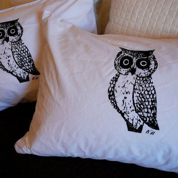 Owl Silhouette Pillowcase Pair