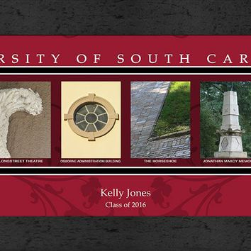 South Carolina Gamecocks | Campus Letter Art | Personalized | Framed | NCAA