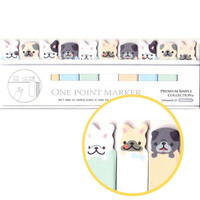 Adorable Frenchies Pugs Bulldog Puppy Sticky Memo Post-it Index Bookmark Tabs | Cute Animal Themed Affordable Stationery