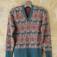 Free People Vintage Holiday Sweater