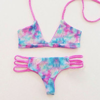 Floral Print Bikini Set For Women