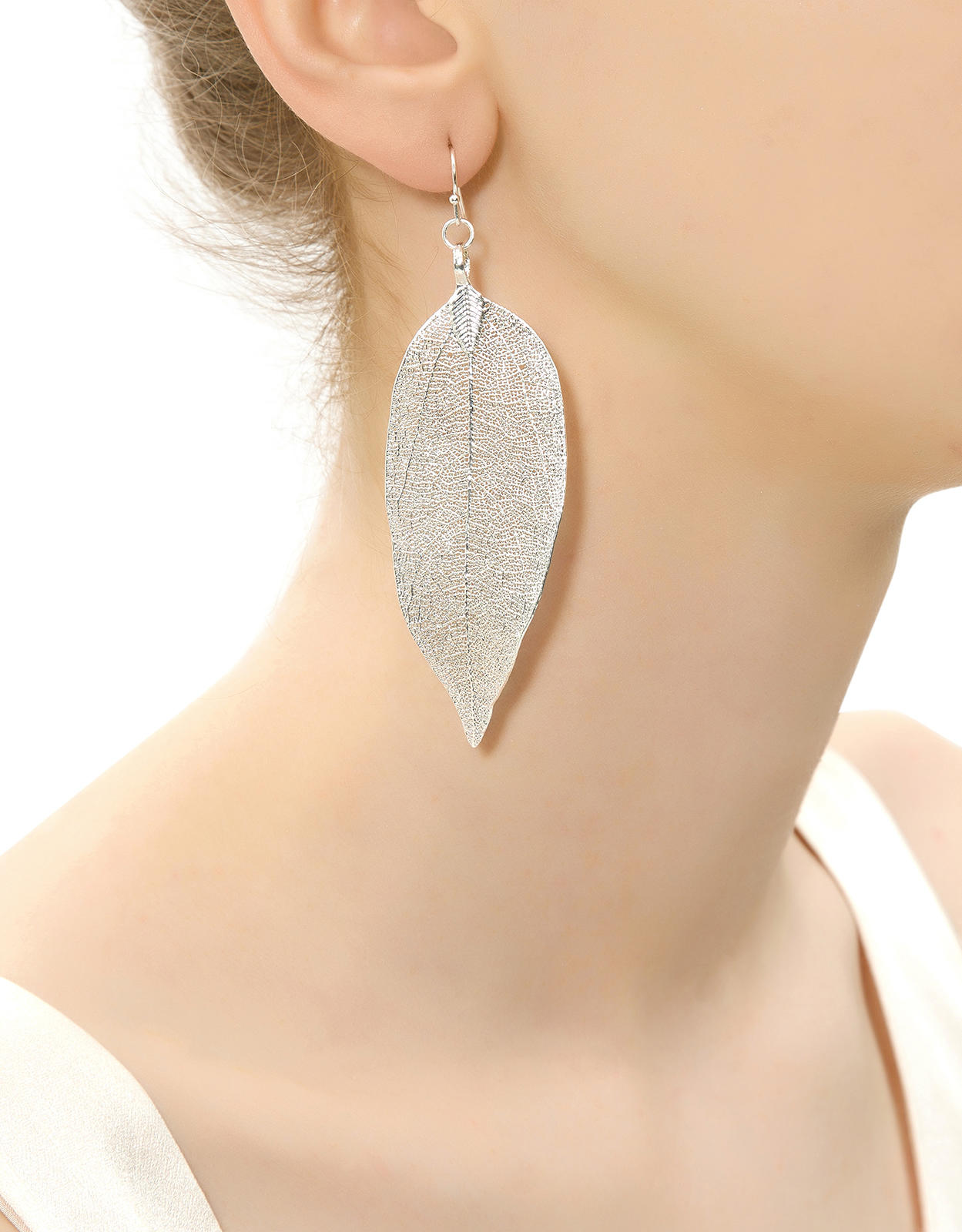 ... quality products 5485b 84bcf Dipped Leaf Earrings Silver from  ACCESSORIZE ... 38fd03f1f9