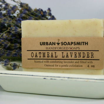 Oatmeal Lavender - Cold Process Soap - All Natural Soap