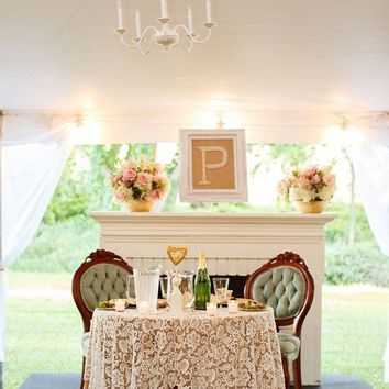 White Lace Table Overlay