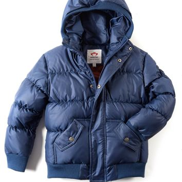Appaman Boys' Navy Blue Down Puffy Coat