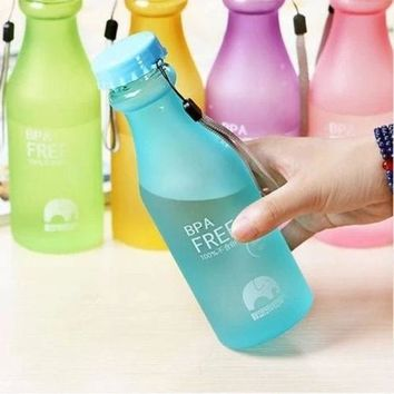 Water Bottle Unbreakable Outdoor Sports Travel Water Bottle 550ML Portable Leak-proof Cycling Camping Water Cup